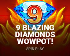 9 Blazing Diamonds WOWPOT